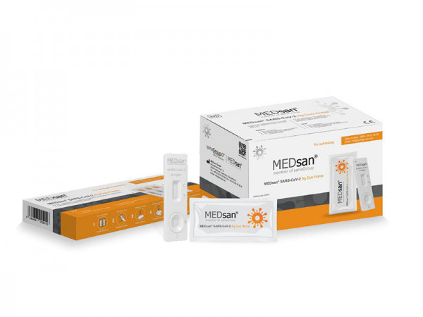 "MEDsan® SARS-CoV-2 Ag Duo Home Selbsttest ""Einzeltest"""