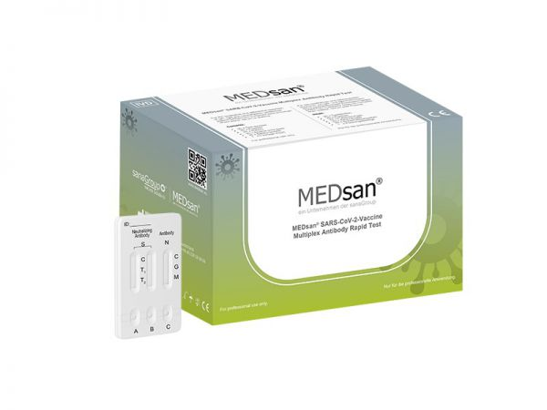 MEDsan® SARS-CoV-2-Vaccine Multiplex Antibody Rapid Test – 25er Set