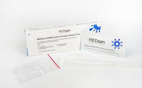"""MEDsan SARS-CoV-2 Antigen Rapid Test """"Einzeltest"""""""